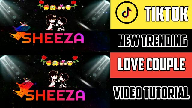 Love Couple Name Art Video Editing