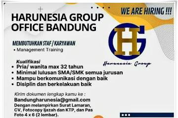 Loker Bandung Karyawan Harunesia Grup