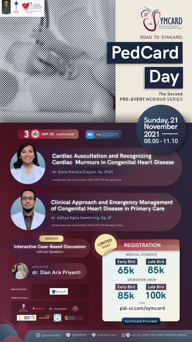 """(3 SKP IDI) The 20th SYMCARD Second Webinar Series  """"Road to 20th SYMCARD: PedCard Day"""""""