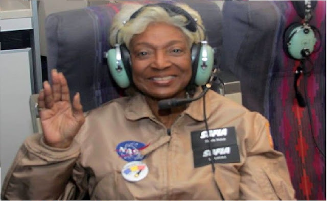 All in a Day's Work: Nichelle Nichols Flew in a NASA Mission This Week