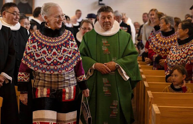Queen Margrethe attended an episcopal ordination ceremony held for the Diocese of Greenland's new bishop, Paneeraq Siegstad Munk