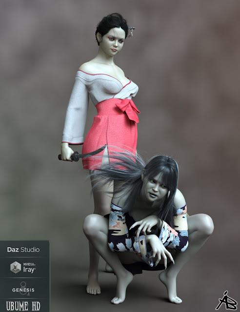 AB Ubume HD for Genesis 8.1 Female