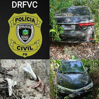 Polícia Civil recupera veículo roubado e encontra restos mortais, após trabalho investigativo