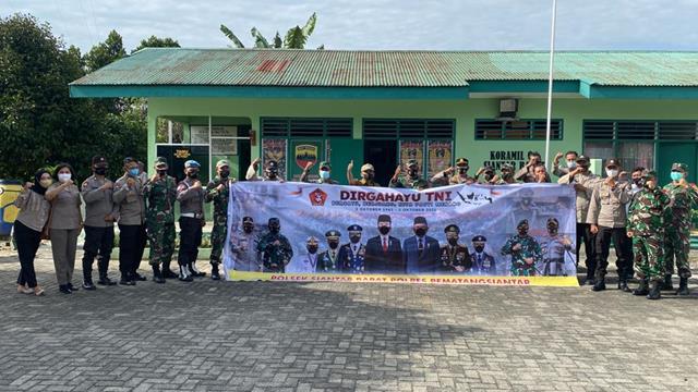 Tepatnya Di Makoramil 04/SB Jajaran Kodim 0207/Simalungun Dalam Rangka HUT TNI Ke-76 Terima Kunjungan Forkopimca