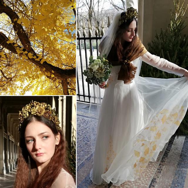Robe de mariée automne, D'ors et de Soie