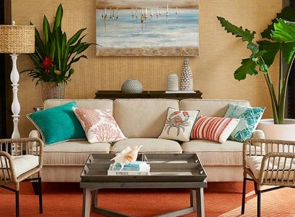 Decrating with Orange and Coastal Style Room Decor Ideas