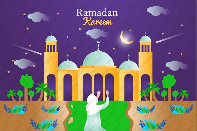 Ramadan kareem illustration in paper style free vector download