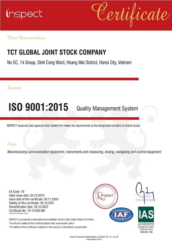 ĐĂNG KÝ CHỨNG NHẬN TIÊU CHUẨN ISO 9001 TẠI VIỆT NAM