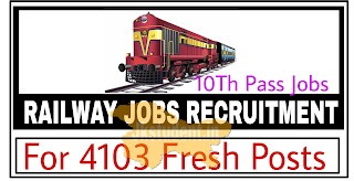 jobs,railway jobs 2021,railway jobs 4103 posts,railway jobs recruitment 2021 for 4103 posts,