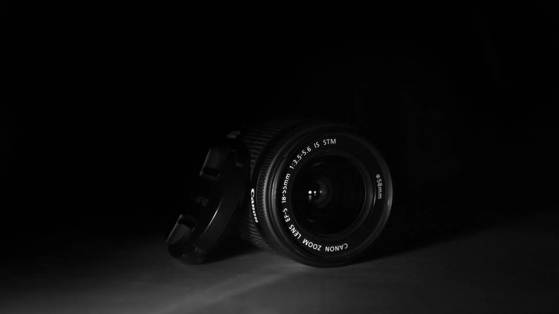 Canon DSLR black wallpaper