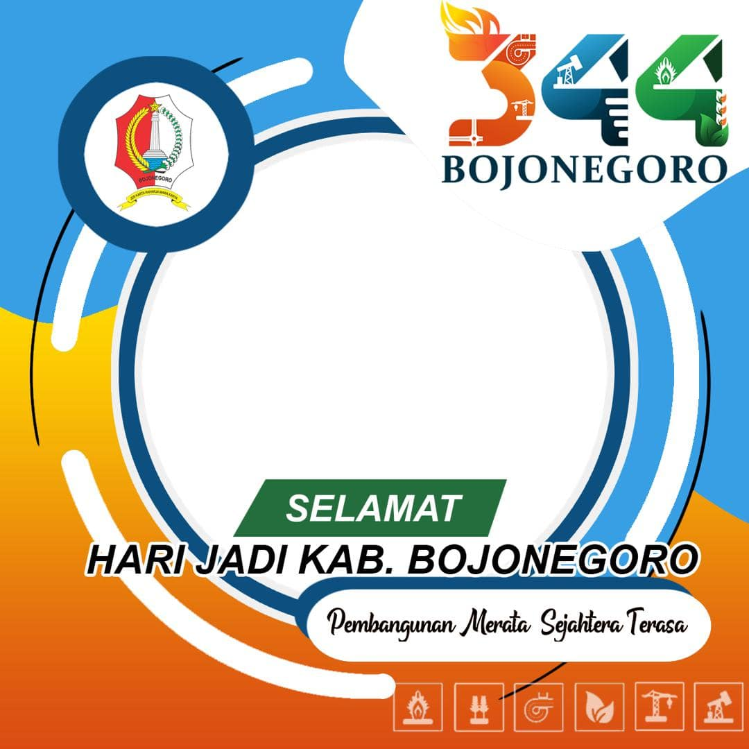 Desain Frame Bingkai Twibbon HUT ke-344 Bojonegoro Tahun 2021