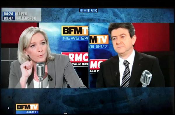 [VIDEO] Marine Le Pen étrille sans concession Jean-Luc Mélenchon sur BFMTV