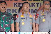 Kapolri bersama Panglima TNI Hadiri Bakti Sosial Kesehatan dan Ibadah Kebaktian Kebangunan Rohani