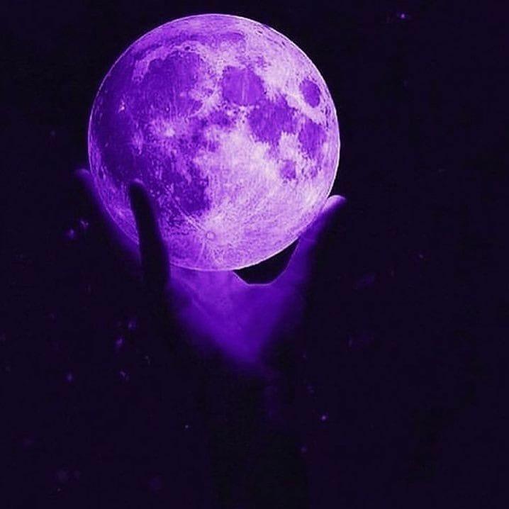 Aesthetic Purple Moon