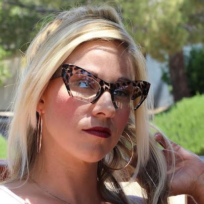 Rare Retro Clear Cat Eye Glasses for Women
