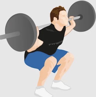 Squat, strength training at home for beginners