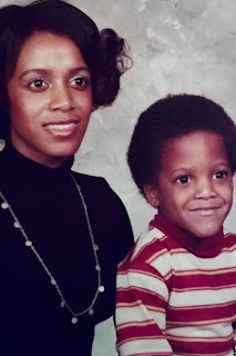 Childhood picture of Van Hunt with his mother