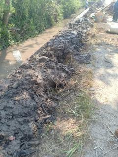 Pembangunan Talud Penahan Jalan Desa Sukosari Jogoroto, Kuat Dugaan Tidak Sesuai Bestek Dan Spek Teknis.