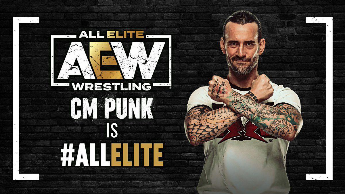 CM Punk é All Elite Wrestling