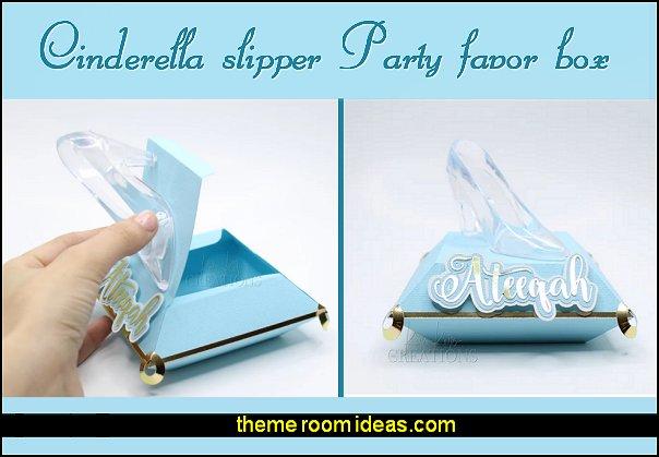 Cinderella slipper Party favor box  Cinderella Party decoration Birthday princess Table decor