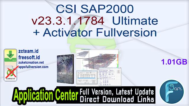 CSI SAP2000 v23.3.1.1784 Ultimate + Activator Fullversion