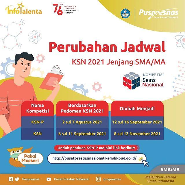 jadwal ksn provinsi nasional sma ma tahun 2021