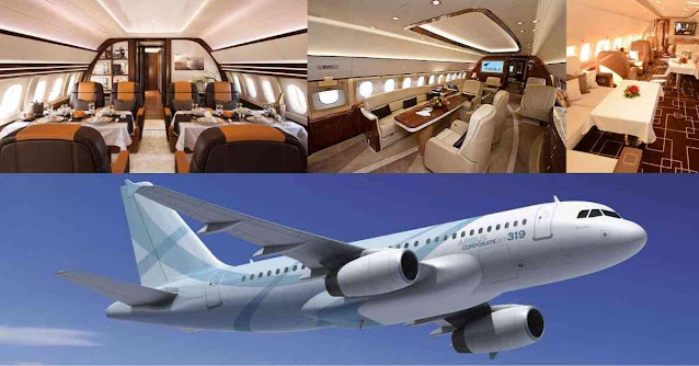 Most Luxurious Private Planes In The World - Airbus ACJ319 - Moniedism