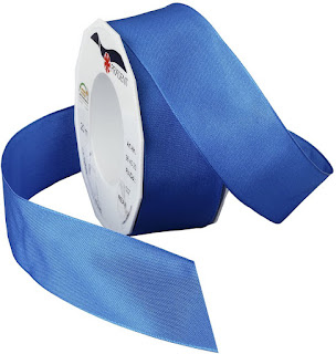 Blue Taffeta Ribbons For Craft or Decor Projects