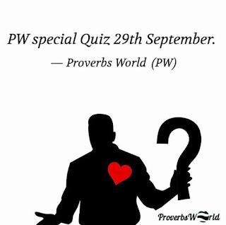 Proverbs World Quiz,Proverbs World, Quiz