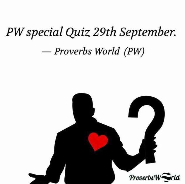 Special quiz 29th Sep 2021