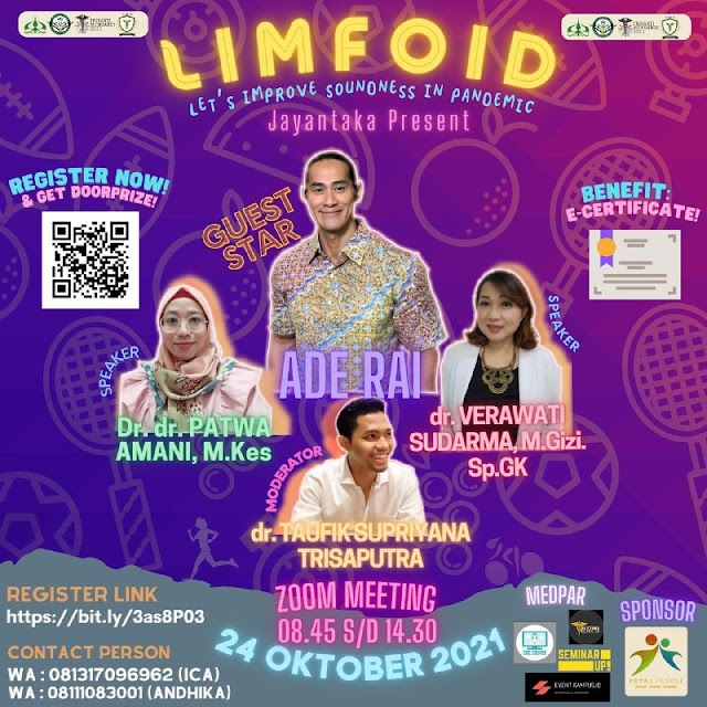 """(FREE E-CERTIFICATE) LIMFOID """" Let's Improve Soundness In Pandemic"""""""