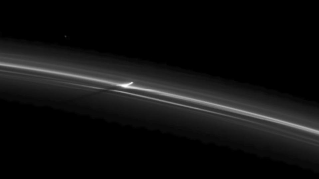 Mysterious UFOs in the rings of Saturn.