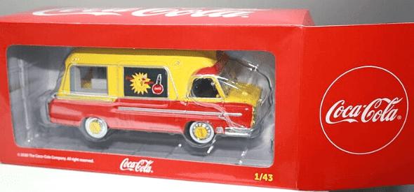 renault r2061 1:43 coca cola, camions et camionnettes coca-cola 1:43 altaya