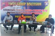 Polres Serang Gelar FGD Sosilisasi Perpol No 4 Tahun 2020 tentang Pengamanan Swakarsa