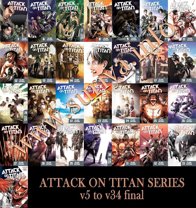 Attack on Titan Book Series v05 To v34 Final