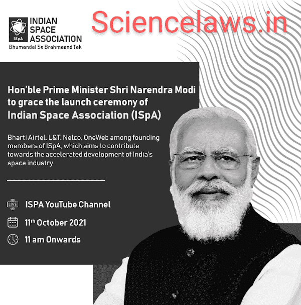 Honorable prime minister Narendra Modi Launch Indian space association on October 11