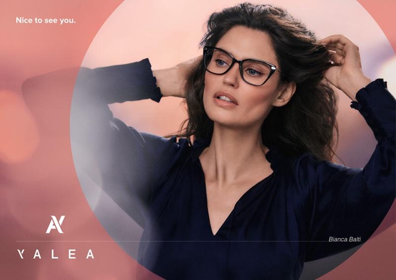 Model Bianca Balti poses for Yalea fall-winter 2021 campaign.