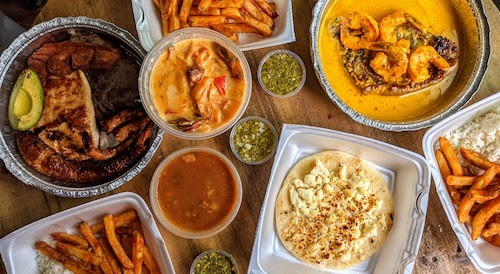A full recent takeout order