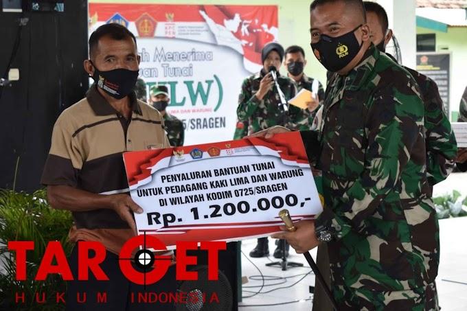 Kodim Sragen Distribusikan Dana BTPKLW TNI Ta 2021