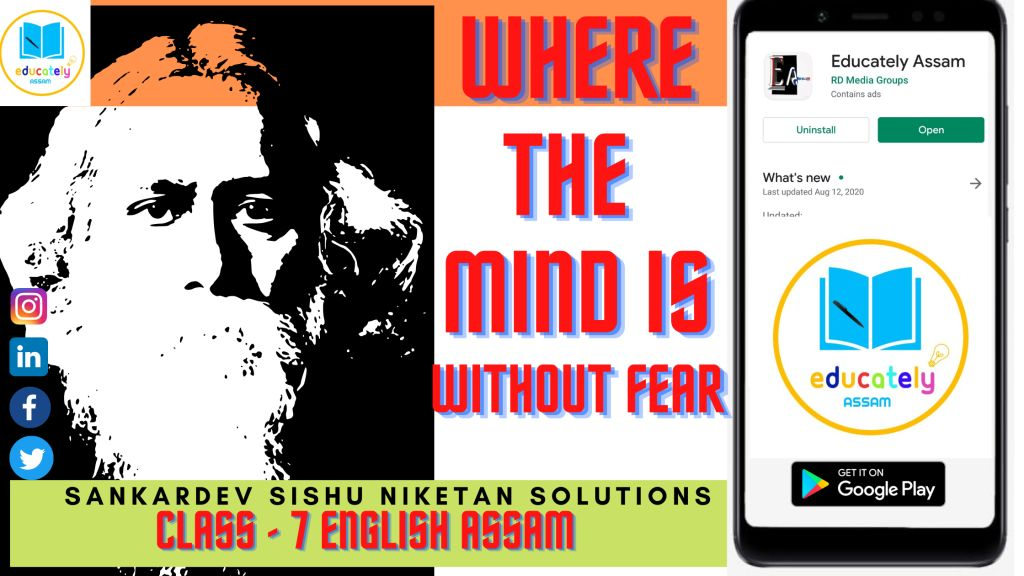 Where the Mind is Without Fear All Questions Answers | Class 7