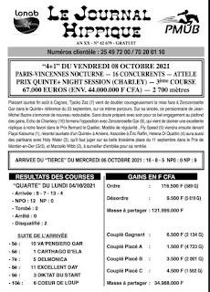programme quinté Pronostic vendredi 08/10/2021