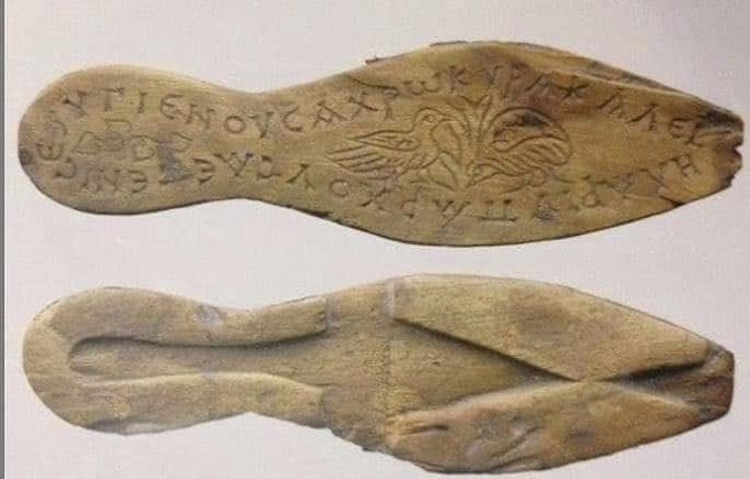 Sandals with a 1,500-Year-Old Byzantine Message in Greek