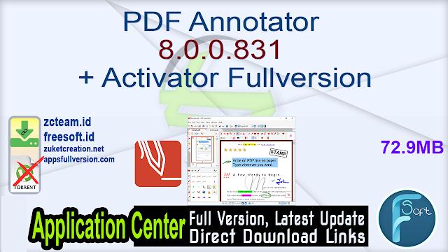 PDF Annotator 8.0.0.831 + Activator Fullversion