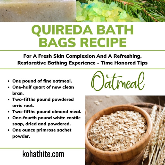 Quireda Bath Bags Recipe For A Fresh Skin Complexion And A Refreshing, Restorative Bathing Experience | Time Honored Tips