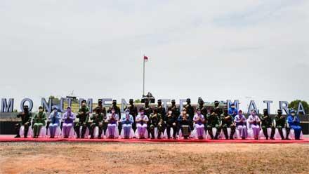Panglima TNI Resmikan Makogabwilhan I, II, III dan Monumen Tri Matra di Pulau Dompak Kepri