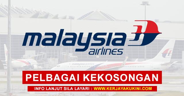 Malaysia Airlines Berhad Buka Pengambilan Pelbagai Kekosongan Jawatan Terkini Di Seluruh Malaysia ~ Mohon Sekarang!
