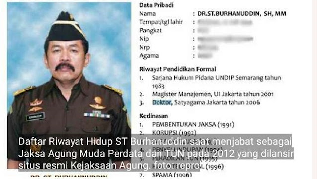 Tak Cuma Ijazah, Perbedaan Data Lahir Jaksa Agung ST Burhanuddin juga Disorot