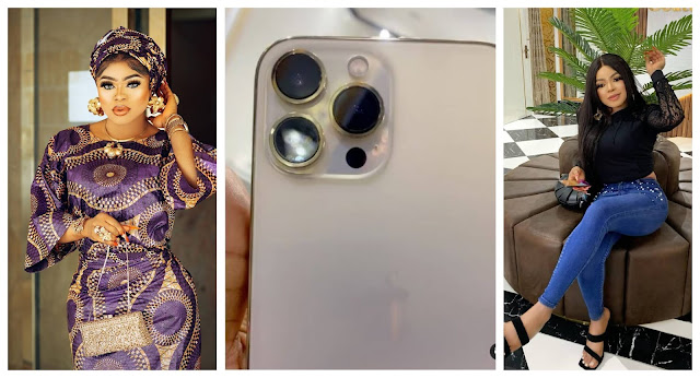 Na dis Kind Fake Life i want- Bobrisky says as he shows off his Brand new Iphone 13 (Video)