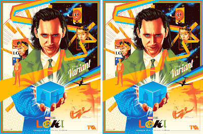 New York Comic Con 2021 Exclusive Loki Screen Print by Doaly x Grey Matter Art x Marvel