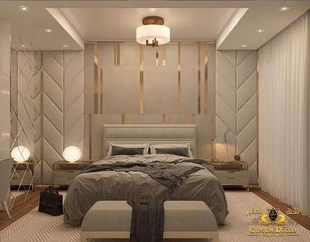 جبس بورد غرف نوم بسيطة تصاميم كلاسيك جميلة وفخمه